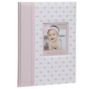Pinnacle Frames and Accents Baby Girl's First Year Milestone Memory Book Journal and Photo Album