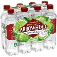 Arrowhead Zesty Lime Sparkling Water, 16.9 Fl. Oz., 8 Count