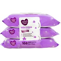 Parent's Choice Baby Wipes, Fragrance Free, 56 Count, 3 Pack
