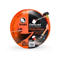 "Camco 22990 RhinoFLEX 25ft Clean Out Hose - Ideal For Flushing Black Water, Grey Water or Tote Tanks 5/8"" Internal Diameter"