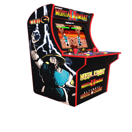Mortal Kombat Arcade Machine, Arcade1UP, 4ft (Includes Mortal Kombat I,II, III) - Walmart Exclusive (Robotron Arcade)