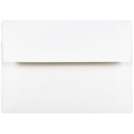 JAM Paper A7 Strathmore Envelope, 5 1/4 x 7 1/4, Invitation Envelope, Bright White Wove, 25/pack