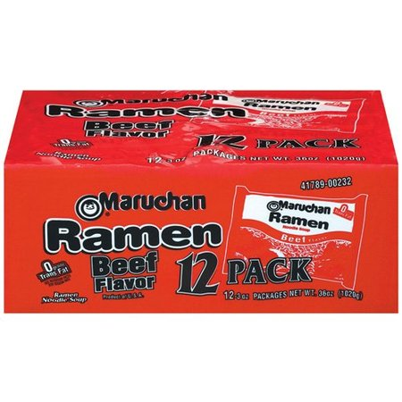 (36 Packs) Maruchan Instant Lunch Beef Ramen Noodle Baby Pack, 3 (Beef Noodle Bowl)