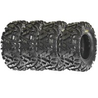 SunF All Terrain ATV UTV Tires 25x8-12 & 25x10-12 6 PR A033 (Complete Full Set of 4)