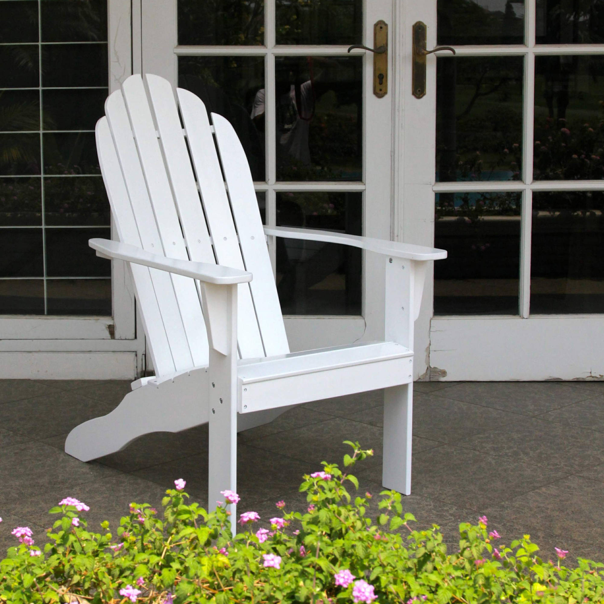 Tan stackable plastic resin lawn chairs - Adirondack Chairs