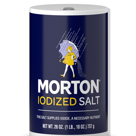Oversized Salt (Morton Iodized Table Salt, All-Purpose Iodized Salt for Cooking, Seasoning, and Baking, 26 OZ Canister )