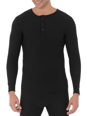 Mens Classic Thermal Henley Top