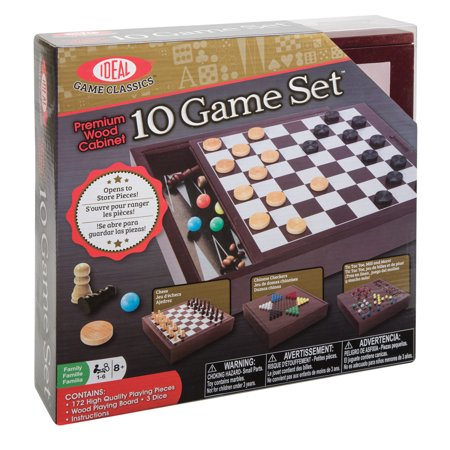 Ideal Premium Wood Cabinet 10 Game Set (Box 10 Halloween Games)