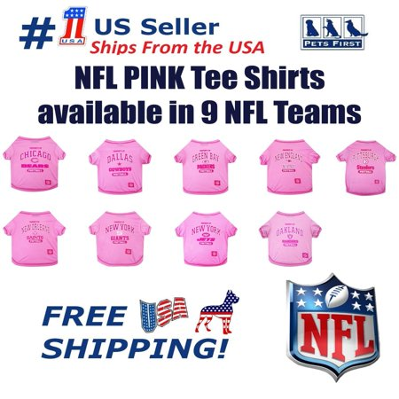 Pets First NFL Green Bay Packers Pink Pink Tee Shirts for DOGS & CATS - Licensed