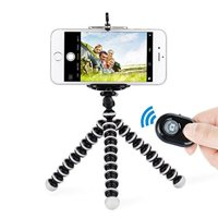 Octopus Style Portable Tripod Stand for Cellphones with Wireless Bluetooth Remote Shutter For iPhone 8 / 8 Plus 7 / 7 Plus 6 6s Plus iPhone X - Black