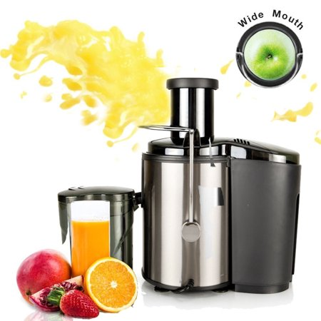 Ktaxon Juicer Wide Mouth Juice Extractor 800 Watt Centrifugal Juicer Machine Powerful Whole Fruit and Vegetable Juicer with Juice Jug ,2 Speed Setting Stainless