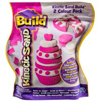 The One and Only Kinetic Sand Build, 1lb Color Pack, Pink and Shimmering White