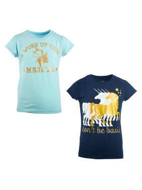 Unicorn Graphic T-Shirts, 2-Pack (Little Girls & Big Girls)