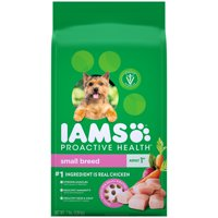 IAMS PROACTIVE HEALTH Small & Toy Breed Adult Dry Dog Food Chicken, 7 lb. Bag
