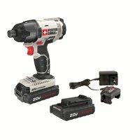 PORTER CABLE 20-Volt Max Lithium-Ion Cordless Compact Impact Driver With 2 Batteries, PCC641LB