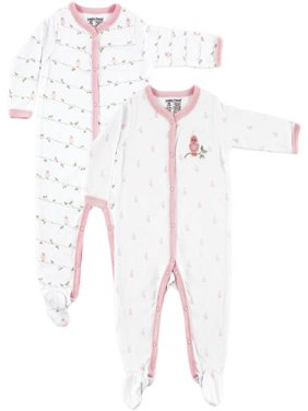 Newborn Baby Boys' and Baby Girls' Sleep N Play 2-Pack, Choose Your Color & Size