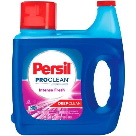 Persil ProClean Liquid Laundry Detergent, Intense Fresh, 150 Fluid Ounces, 96 (Best Laundry Detergent For Sweat Stains)