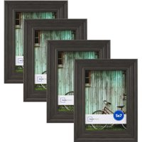 """Mainstays Vintage French 5"""" x 7"""" Picture Frame, Grey, Set of 4"""