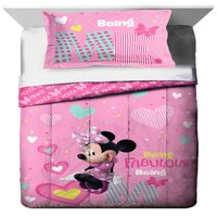 Disney Minnie Mouse Twin/Full Comforter and Sham Set, 2 Piece