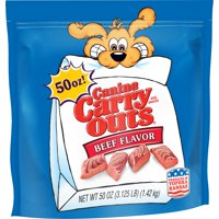 Canine Carry Outs Beef Flavor Dog Snacks, 50-Ounce