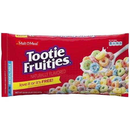 (2 Pack) Malt-O-Meal Breakfast Cereal, Tootie Fruities, 33 Oz, Zip Bag (Cereal Killer Halloween Ideas)