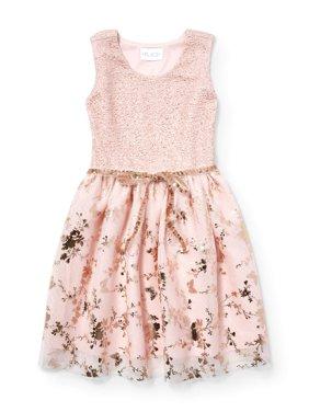Allover Butterfly Easter Dress (Little Girls & Big Girls)