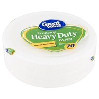 Great Value Economy Heavy Duty Paper Plates, 70 count