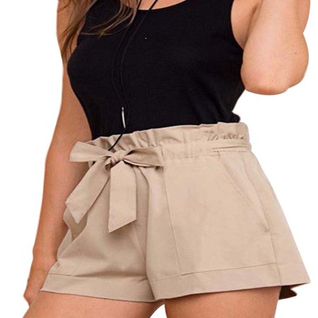 OUMY Women High Waist Casual Shorts (Travel Womens Shorts)