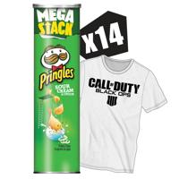Pringles Potato Crisps Chips Mega Stack, Sour Cream & Onion, 7.1 Oz (Pack of 14)