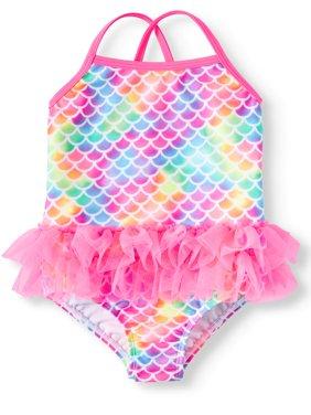 Mermaid Tutu 1-Piece Swimsuit (Toddler Girls)