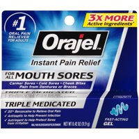 Orajel™ Mouth Sores Gel Oral Pain Reliever/Antiseptic/Astringentor 0.42 oz. Carded Pack