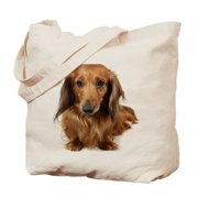 CafePress - Dog Long-Haired Dachshund Pet - Natural Canvas Tote Bag, Cloth Shopping Bag
