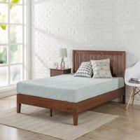 "Zinus Vivek 12"" Deluxe Solid Wood Platform Bed with Headboard, Multiple Sizes"