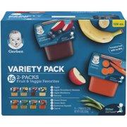 Gerber 2nd Foods Baby Food Variety Pack 8 oz Packs, 16 Count