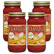 (4 Pack) Classico Caramelized Onion & Roasted Garlic Pasta Sauce, 24 oz Jar