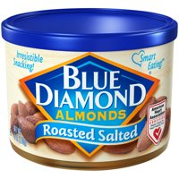 (2 Pack) Blue Diamond Almonds Roasted Salted 6 oz. Canister