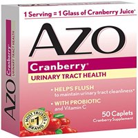 2 Pack AZO Cranberry Supplement Urinary Tract Health Probiotic 50 Caplets Each