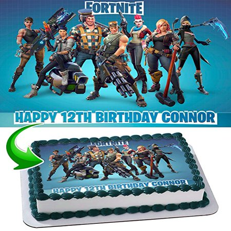 Fortnite Personalized Edible Image Cake Topper 14 Sheet Walmartcom