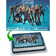 Fortnite Personalized Edible Image Cake Topper 1 4 Sheet