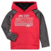 buy online 5d30b d3607 Youth Heathered Scarlet Ohio State Buckeyes Streak Pullover Hoodie