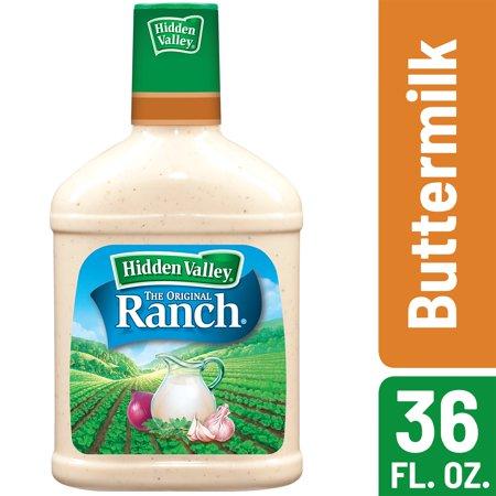 Hidden Valley Buttermilk Ranch Salad Dressing & Topping, Gluten Free, Keto-Friendly - 36 oz - A Girl Dressing Up