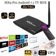 Mx9 Pro Android 7.1 Wifi 3D 4K TV BOX Streaming Player 2G +