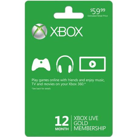 Microsoft Xbox LIVE 12 Month Gold Membership (Physical