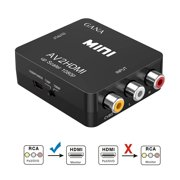 RCA to HDMI, Coolmade 1080P Mini RCA Composite CVBS AV to HDMI Video Audio Converter Adapter Supporting PAL/NTSC with USB Charge Cable for PC Laptop Xbox PS4 PS3 TV STB VHS VCR Camera DVD