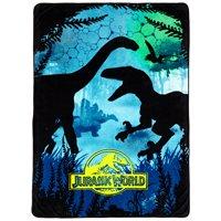 "Universals Jurassic World Dino Experience 62"" x 90"" Kids Plush Blanket"