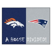 "NFL - Broncos / Patriots House Divided Rug 33.75""x42.5"""