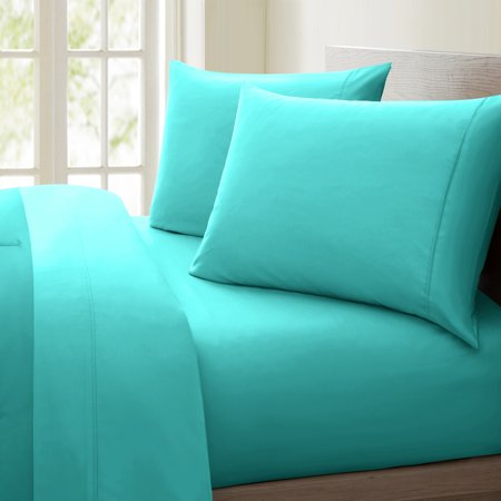 Luxurious Collection 1000 Thread Count 100% Cotton Sheet Set (Twin, Aqua)