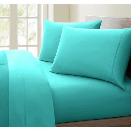 Luxurious Collection 1000 Thread Count 100% Cotton Sheet Set (Twin, Aqua) Cocoon Cotton Travel Sheet