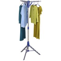 "Honey Can Do 64"" High Tripod Drying Rack, Chrome/Blue"