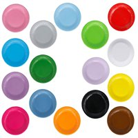 """CUH 20PCS Colorful Disposable Paper Plates Round Trays of 7in"""" & 9in"""" Perfect for BBQ and Parties"""